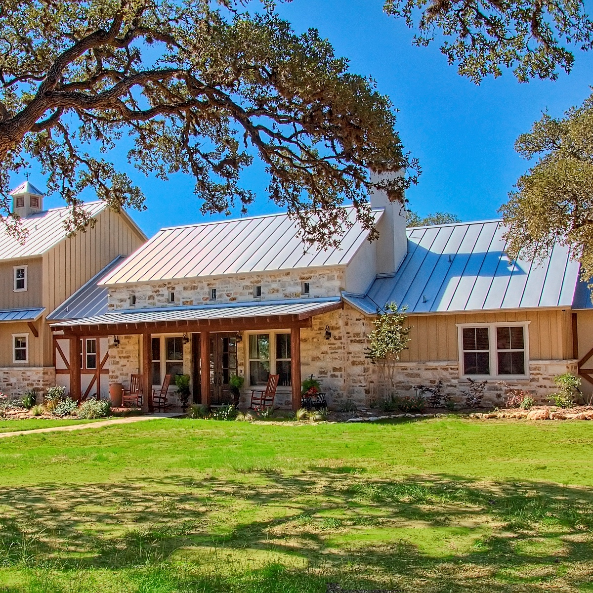 CUSTOM HOME  PRIVATE ROAD  GERMAN INFLUENCE ON TEXAS HILL COUNTRY